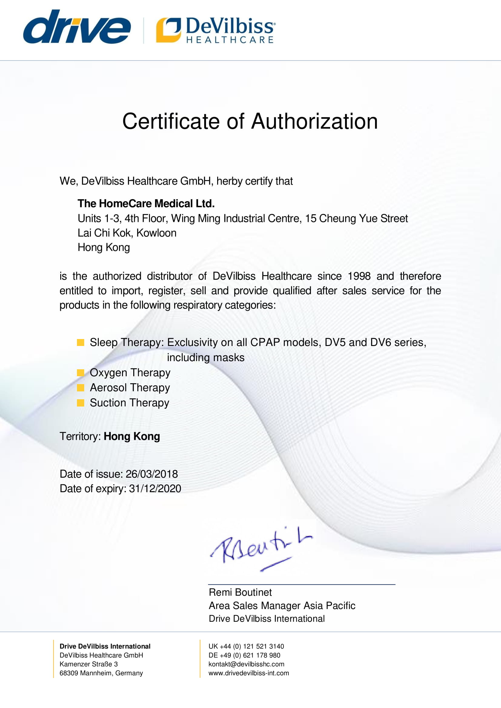 Qualification of medical equipment supplier homecare medical authorization by devilbiss healthcare ccuart Images